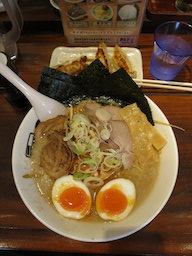 another ramen lunch with Tiffany (Nogata Hope ramen)